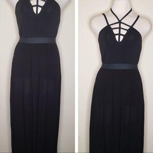 Express black cami + maxi skirt set
